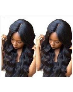 Body wave high fibre closure wig