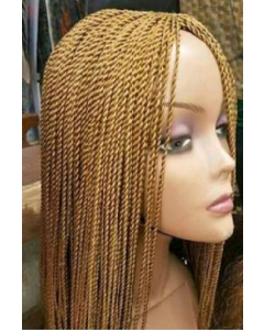 Blonde twisted wigs