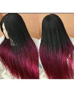 Twisted Maroon wig